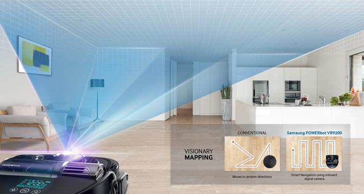 Visionary Mapping bei einem Saugroboter von Samsung